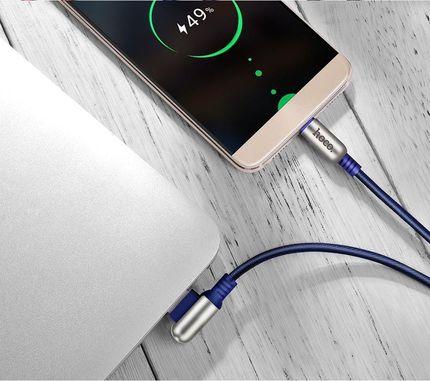 Кабель U17 Capsule Apple 1.2M Cимметричный USB-коннектор Синий
