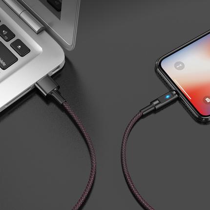 Кабель U47 Essence Core Apple с индикатором заряда Синий