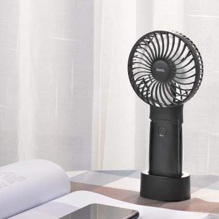 Портативный вентилятор и внешний аккумулятор F11 4000mAh Черный