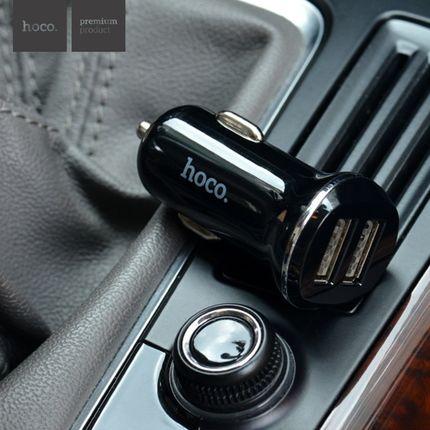 Автомобильное зарядное устройства Z1 с двумя USB портами Черный