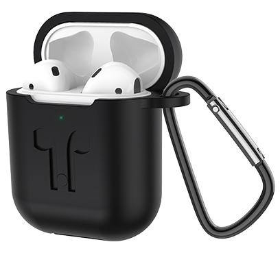 Беспроводные наушники ES32 Apple (черный чехол) белые