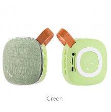 Портативная колонка BS9 Light Textile Зеленая
