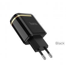 Зарядное устройство C39A Enchanting с двумя USB портами Черный