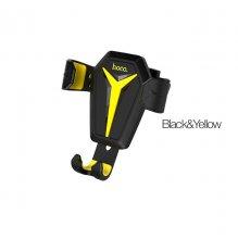 Автомобильный держатель Hoco CA22 KingCrab Черно-Желтый