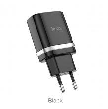 Зарядное устройство С12 Быстрая зарядка QC3.0 Черный