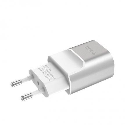 Зарядное устройство C47A Metal с двумя USB портами Серый