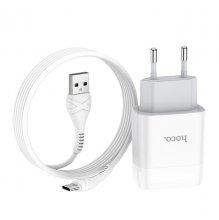 Зарядное устройство C73A Glorious Type-C с двумя USB портами Белый