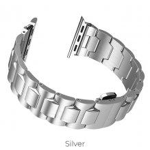 Ремешок для Apple Watch стальной 44мм Серый