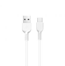Кабель X20 Flash Type-C 2M с двумя USB портами Белый